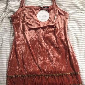 Brand new with tags coral velvet dress